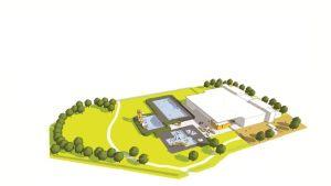 Havainnekuva Tampereelle suunnitellusta maauimalasta