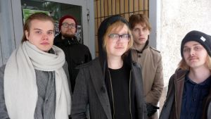 The Scenes eli Konsta Koivisto (vas.), Olli Vimpari, Atte Loponen, Miki Liukkonen ja Matias Haataja. Kuvasta puuttuu Joni Seppänen.