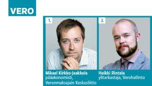 Mikael Kirkko-Jaakkola ja Heikki Rintala.