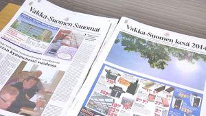 Vakka-Suomen Sanomat -sanomalehtiä.