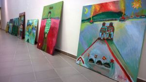 Anssi Hanhelan teoksia Kemin Taidemuseossa