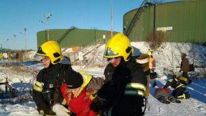 Bentseeni 2014 -harjoituksessa Raahessa testataan turvallisuussuunnitelmia käytännössä.