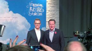 Alexander Stubb (vas.) ja David Cameron.
