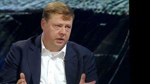 Talvivaaran Kaivososakeyhtiön toimitusjohtaja Pekka Perä Ylen A-Talkissa 6. marraskuuta 2014.