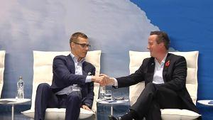 Cameron ja Stubb Northern Future seminaari espoo