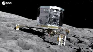 Laskeutuja komeetan pinnalla.