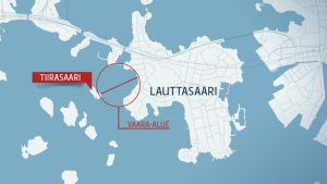 Kartta Lauttasaaren alueelta.