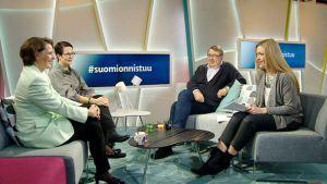 Anne Berner, Suvi-Anne Siimes, Timo Airaksinen ja Annika Damström.