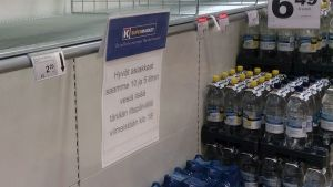 Pullovesihylly Janakkalan K-Supermarketissa