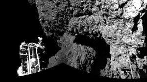 Laskeutuja Philae komeetan pinnalla.