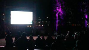 Rokumentti 2014 tarjosi elokuvia myös lapsille ulkoilmanäytöksessä Ilosaaressa.