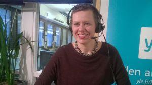 Maarit Feldt-Ranta Yle Helsingin Pasilan parlamentissa