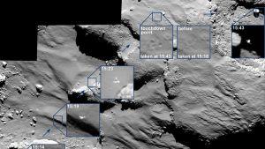 laskeutuja ja komeetan pintaa
