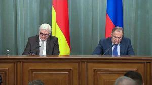 Frank-Walter Steinmeier ja Sergei Lavrov.