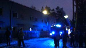 Tulipalo Vaasan Verkkokadulla.