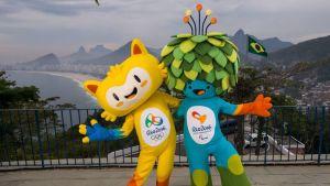 Rio de Janeiron vuoden 2016 olympialaisten maskotit ovat jalkautuneet Brasiliassa.