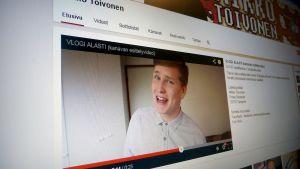 Vloggaaja Mikko Toivosen YouTube-sivu