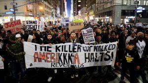 Mielenosoitus New Yorkin Manhattanilla.