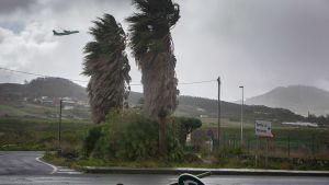 Näkymä myrskyiseltä Teneriffalta.