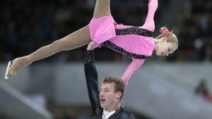 Julia Antipova ja Nodari Maisuradze edustivat Venäjää taitoluistelun MM-kisoissa Moskovassa.