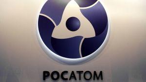 Ydinvoimayhtiö Rosatomin logo.