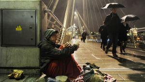 Koditon, köyhä ihminen Lontoo.