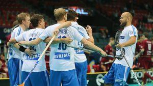 Suomi tuulettaa maalia.