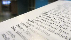 Kuva sanakirjan sivusta.