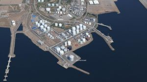 Haminan Energian suunnittelema nesteytetyn maakaasun terminaali on tarkoitus rakentaa Haminan öljy- ja kaasusatamaan