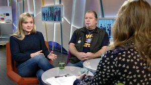 Maria Ohisalo, Heikki Hursti ja Sanna Ukkola.