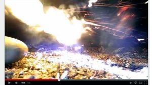Kuvakaappaus Youtuben räjähdevideolta.