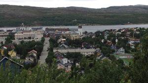 Kirkkoniemen kaupunki Pohjois-Norjassa