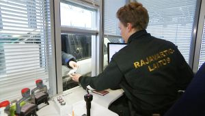 Rajavartija passi raja passin tarkistus raja-asema Imatran raja-asema