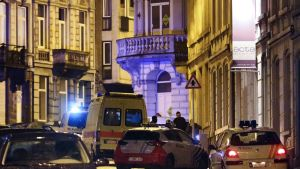 Poliisioperaatio Verviersin keskustan läheisyydessä sijaitsevalla alueella torstaina.