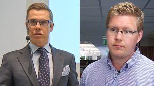 Alexander Stubb ja Antti Lindtman.