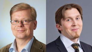 Seppo Laakso (vas.) ja ympäristöministeriön hallitussihteeri Ville Koponen