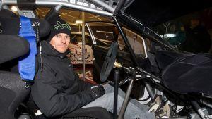 Heikki Kovalainen ralliautossa