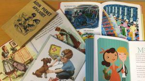 Auki olevia lastenkirjoja
