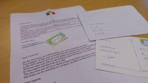 Kuvassa kirje