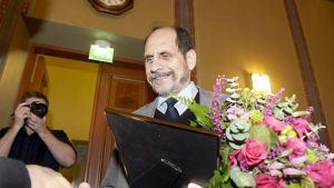 Kirjallisuuden Runeberg-palkinnon voittaja  Joni Skiftesvik 5. helmikuuta 2015.