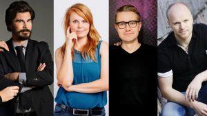 Jukka Lindström, Ulla Virtanen, Joonas Nordman ja Teemu Vesterinen.