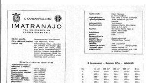 Imatranajojen käsiohjelma