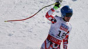 Matthias Mayer oli neljäs miesten super-G:ssä.