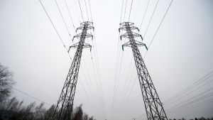 Energiayhtiö Fortumin ilmajohtoa Espoossa 12. joulukuuta 2013.