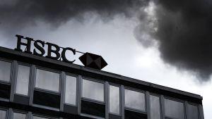 HSBC-pankin konttori Genevessä, Sveitsissä. Kuva on kesäkuulta 2013.