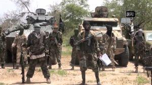 Päiväämätön Boko Haramin itsestään välittämä kuva.