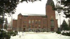Joensuun kaupungintalo helmikuussa 2015.