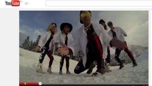 Kuvakaappaus Yhdysvaltojen hiihtojoukkueen You Tube -videosta.