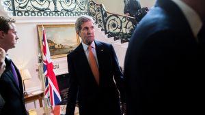 Yhdysvaltain ulkoministeri John Kerry kuvattuna valtiovierailullaan Lontoossa 21. helmikuuta 2015.