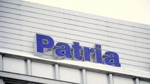 Patrian logo yrityksen Helsingin toimipisteessä.